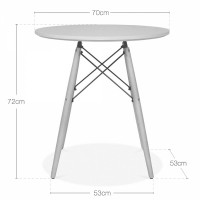 "Стол CoolArt ""Tavolo xz3 table"" (белый) 70"