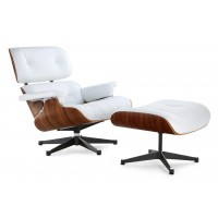"Кресло CoolArt ""Eames lounge chair с оттоманкой"" (белый)"